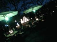 雪ダルマとキャンドルタワー夜.JPG